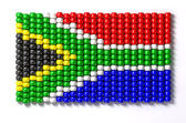 South African Zulu Bead Flag — Stock Photo