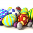 Foil Easter Egg Collection — Stock Photo