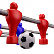 Stock Photo: Foosball Kickoff Front Isolated