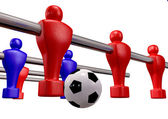 Foosball Kickoff Front Isolated — Foto de Stock