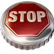 Capped Limit Stop Sign Cap — Stockfoto