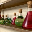 Potion Bottles On A Shelf — Stock Photo