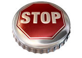Capped Limit Stop Sign Cap — Stock Photo