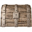 Treasure Chest Closed Front — Stock Photo