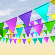 Fairground Bunting Perspective — Stock Photo