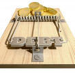 Royalty-Free Stock Photo: Mouse Debt Trap Front Coins