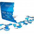 Credit Crunch Card - Stock Photo