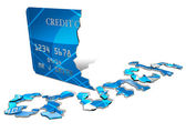 Credit Crunch Card — Stock Photo