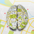 Mind Map Brain Top — Stock Photo