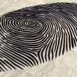 Stock Photo: Fingerprint Extruded