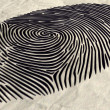 Fingerprint Extruded — Stock Photo