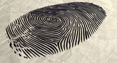 Fingerprint Extruded — Foto Stock