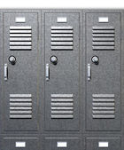 Grey School Lockers Front — Stock Photo