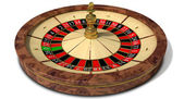 Roulette Wheel Perspective — Stock Photo