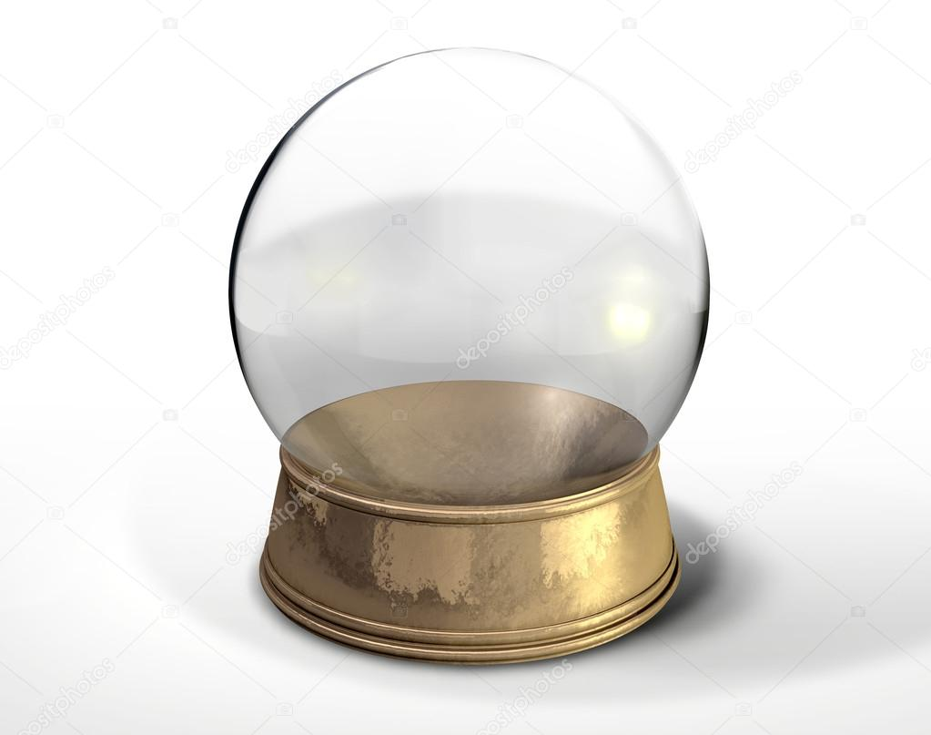 boule de cristal globe de neige isol e photographie albund 24858683. Black Bedroom Furniture Sets. Home Design Ideas
