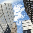 Stock Photo: Building And Skyscapers Upward Wide Angle