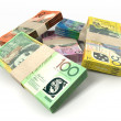 Australian Dollar Notes Bundles Stack — ストック写真