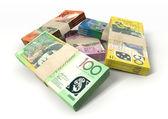 Australian Dollar Notes Bundles Stack — Stock Photo
