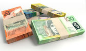 Australische dollar notities bundels stapelen — Stockfoto