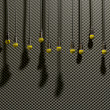 Microphones Dangling On Sound Proof Acoustic Foam — Foto Stock #26372965