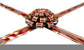 Christmas Ribbon and Bow — Stockfoto
