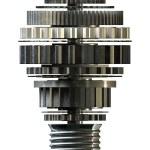 Cogwheel Lightbulb Shape Concept — Stock Photo