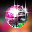Colorful Glinting Disco Ball — Stock Photo