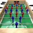 Stock Photo: Foosball Table High Top View