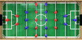 Foosball Table Top View — Stock Photo