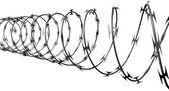 Razor Wire Perspective — Stock Photo
