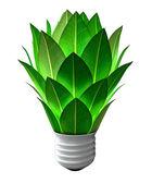 Green Energy Light Bulb — Stock Photo
