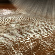 Dusting For Fingerprints On Wood — Stock Photo
