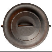 South African Potjie Pot Top With Lid — Stock Photo