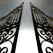 Stock Photo: Heavens Open Ornate Gates