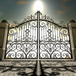 Stock Photo: Heavens Closed Ornate Gates