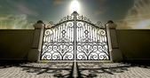 Heavens Closed Ornate Gates — Stock Photo