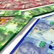 South African Rand Notes Flag — Stock Photo