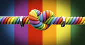 Tie The Knot With Rings Gay Marriage — Stock Photo