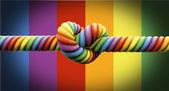 Binden Sie die Knoten-Homo-Ehe — Stockfoto