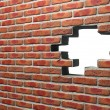 Face Brick Wall With Hole — Stock Photo #37451951