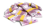 Euro Notes Scattered Pile — Stock Photo