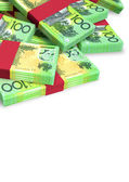 Australian Dollar Notes Scattered Pile — Stock Photo