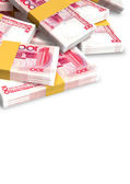 Yuan Notes Scattered Pile — Stock Photo