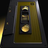 Nostalgic Macro Cassette Tape — Stock Photo