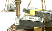 Inequality Scales Of Justice Income Gap USA — Stock Photo