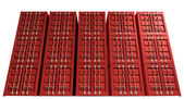 Shipping Container Red Stack — Foto de Stock