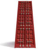 Shipping Container Red Stack — 图库照片