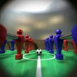 Foosball Table Through A Peephole — Stock Photo