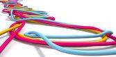 Luminous Cables Closeup — Stock Photo