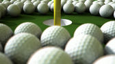 Golf Ball Hole Assault — Stok fotoğraf